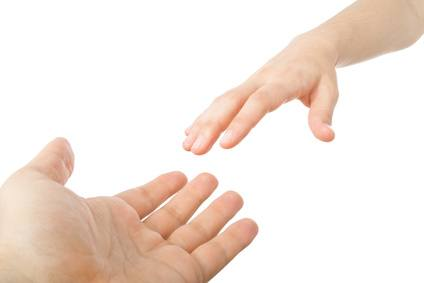 Reaching hands. Concept for rescue, friendship, guidance....